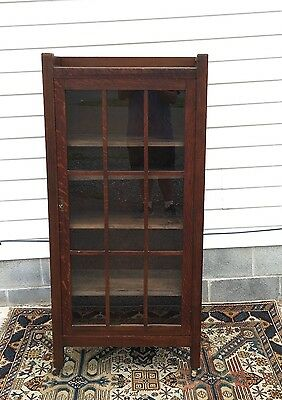 Antique Arts & Craft 19th Century Marked Stickley Brothers Mission Oak Bookcase