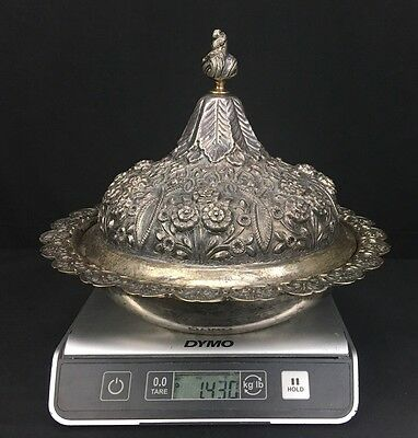 Unique Antique 19th Century Ottoman Empire Turkish Style Sterling Silver Tureen