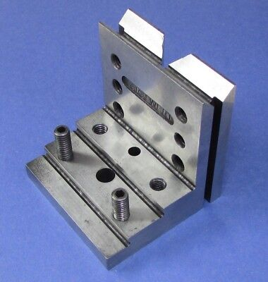 Stepped  V  ANGLE PLATE 3 X 3 X 3 by TOOLMAKER, Ground,  5/16 tapped; Machinist