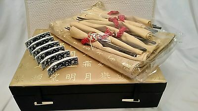 WOW! Chinese Place Setting for 6 includes 6 chopsticks w/holder & matching case