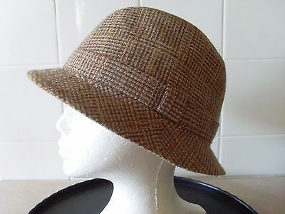 Vintage ANTLER 100% WOOL FEDORA HAT Size M Headband approx. 56cm made in ENGLAND