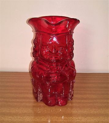 Vintage Whitefriars Ruby Red Toby Jug
