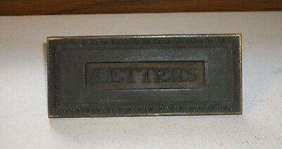 Solid Brass Letter Door Slot Circa 1890s – 1920s
