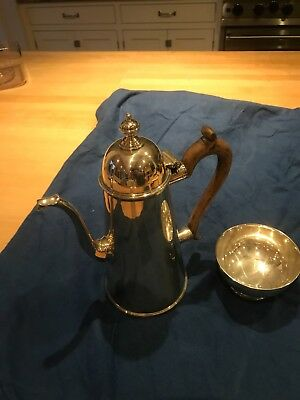 James Robinson Coffee Pot & Bowl -Traditional Georgian - English Sterling Silver