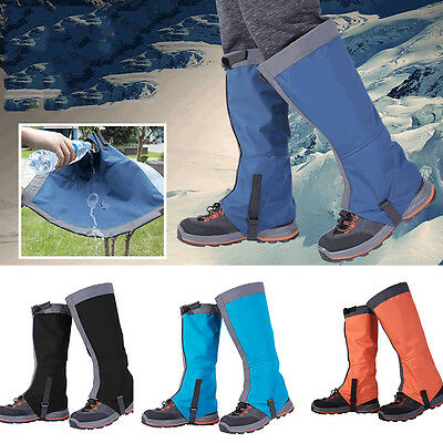 Adult 1 Pair Breathable Outdoor Hiking Climbing Snow Legging Gaiters Waterproof