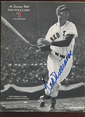 1988 Jimmy Fund Dinner Program Ted Williams Autographed