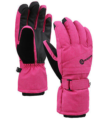 Women's Winter Touchscreen Ski Gloves with Zippered