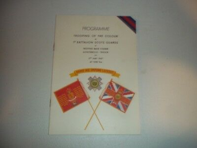 Post Wwii Ww2 Trooping Of The Colour 1St Battalion Scots Guards Trieste Program