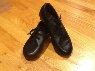 Black Tie Lace Up Oxford Revolution Tap shoes girls size 5 Man Made Materials
