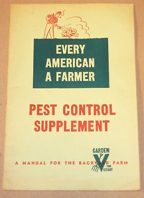"""• Vintage c.1940's """"V for Victory Garden Manual for Backyard Farming • WWII •"""