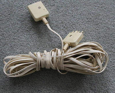TELEPHONE 10m. LANDLINE EXTENSION CABLE TO EXTEND SOCKET TO ANOTHER LOCATION