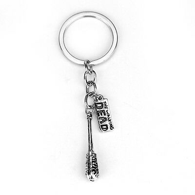 DEAD Walking Dead Cudgel And Letter Keychain Key Ring Portable Trendy Holder