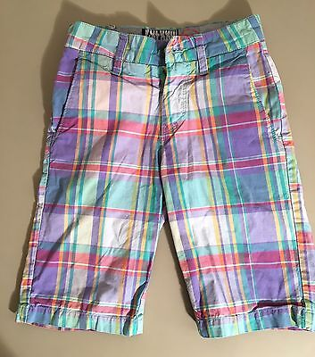 Volcom Boys Youth Shorts Size 22 / 8 Plaid Casual