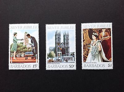 Barbados 1977 Sg574-576 Silver Jubilee Set Of 3 MNH