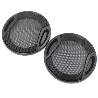 2PCS Car Speaker Grille 4'' Mesh Grills Woofer Sound Audio Subwoofer Cover 116MM