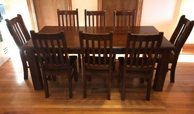 Solid Timber 9 Piece Dining Table Set