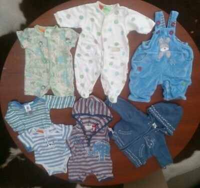 BABY PUMPKIN PATCH Baby Boy Clothes Size NB Bulk Lot Onsies Overall Sets