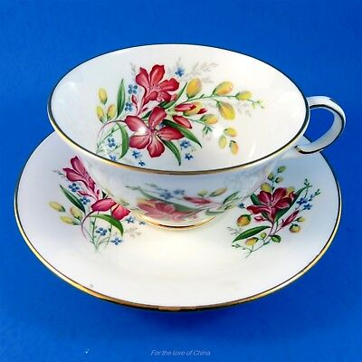 Bright Floral Bouquet Roslyn Tea Cup and Saucer Set