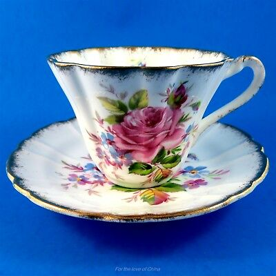 Lovely Pink Rose Bouquet Gladstone Tea Cup and Saucer Set