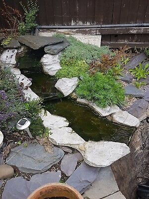 Pond waterfall x 2 fibre glass good condition
