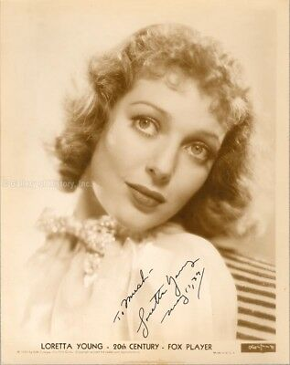 Loretta Young - Inscribed Photograph Signed 05/10/1937