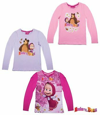 Masha and the Bear (Mascha und der Bär) Langarmshirts, T-Shirt, Gr. 104 - 134