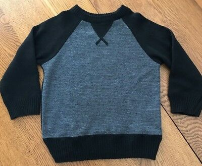 Toddler Boy Size 4T Street Rules Clothing CO Black Gray Sweater NWOT