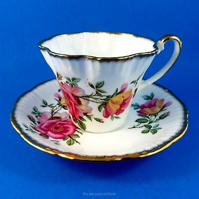 Pretty Pink Blossoms Floral Design Salisbury Tea Cup and Saucer Set