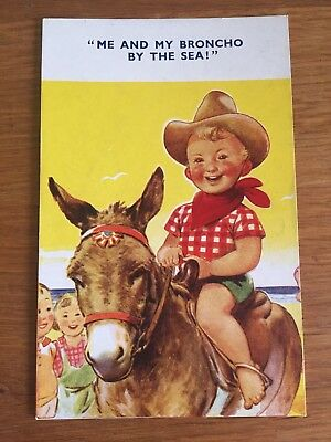 Postcard Donkey comic Bamforth Seaside Kiddy comic 946