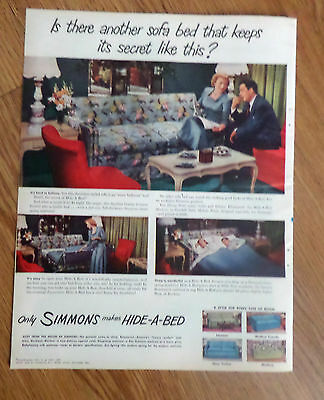 1949 Simmons Ad      Hide-A-Bed Sofa