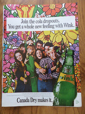 1967 Wink Soda Pop Ad  Join the Cola Dropouts