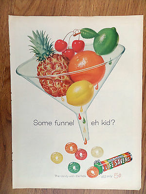 1960 Life Savers Candy Ad  Some Funnel eh kid?