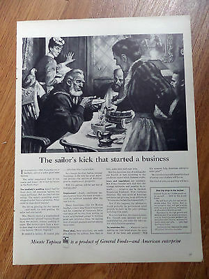 1944 Tapioca Ad The Sailor's Kick Started a Business