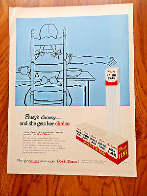 1955  Post -Tens Cereal Ad Susy's Choosy