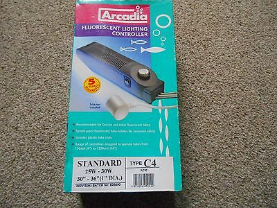 """NEW Arcadia Fluorescent Lighting Controller Type C4, 25-30W 30""""-36""""WITHOUT TUBE"""