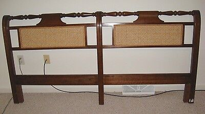 Stickley Cane Panel King Size Headboard Solid Cherry With Cherry Valley Finish