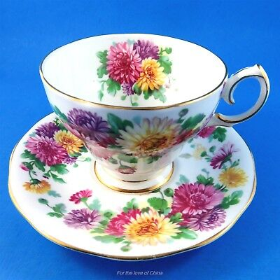 "Queen Anne "" Autumn Glory "" Tea Cup and Saucer Set"