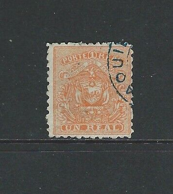 Ecuador - #10 - Coats Of Arms Used Stamp (1872)