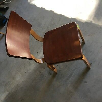 Vintage Mid Century Modern MCM Gorgeous Refinished Thonet Bentwood Chair