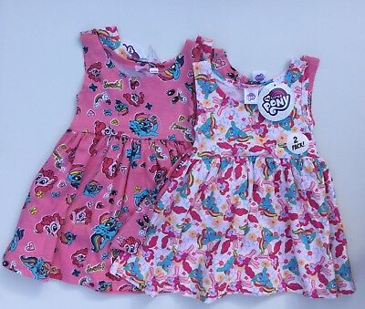 Baby Girl 2 Pack Cotton Dresses with My Little Pony detail