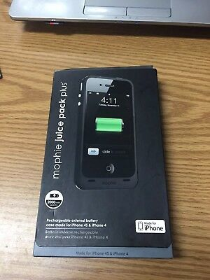 New Mophie Juice Pack Plus For iPhone 4, 4S Rechargeable Battery & Power Case