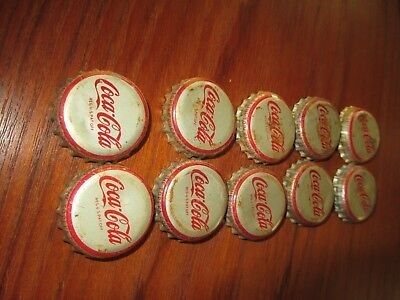 10 used Cork lined Old Coca-Cola Topeka Kansas bottle caps