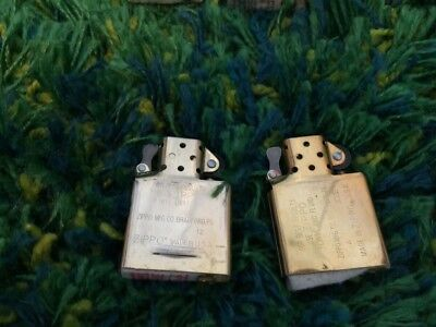 Lot of 2 NEW & Brass Zippo Lighter Inserts No Reserve