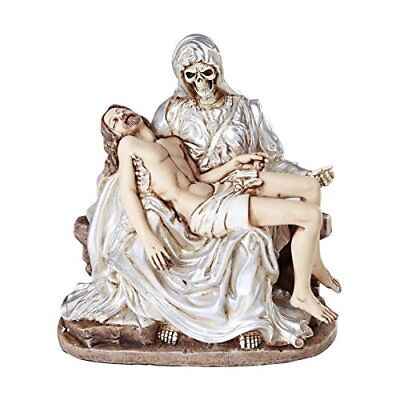 Santa Muerte Piadosa La Pieta Compassion Of the Holy Death Religion Statue White