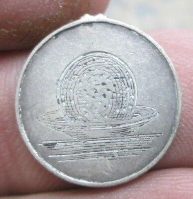 Great Britain Queen Victoria Ball in Bowl Silver Three Pence Love Token No Res