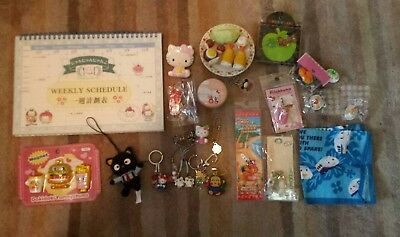 Huge lot of kawaii sanrio san-x hello kitty Deery Lou charms stickers