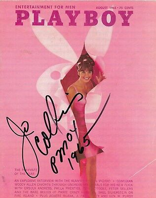 Playmate---Jo Collins--Signed Playboy Cover