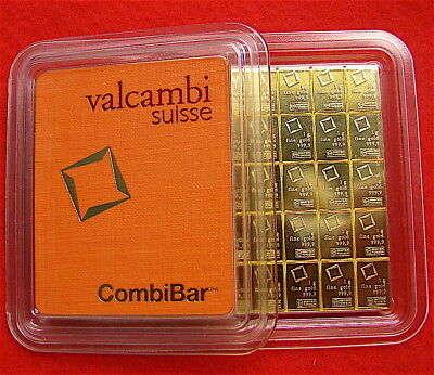 1 GRAM VALCAMBI SUISSE GOLD BAR .9999 PURE ----FREE SHIP---50 Available