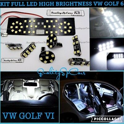 Kit LED interni GOLF 6 mk6 BIANCO GHIACCIO 6000K canbus NO ERROR VOLKSWAGEN GTI