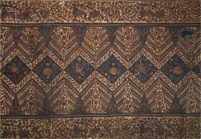 Antique Indonesia Java TOP HIGH AGED USED COTTON RICH DECORATED BATIK SARONG